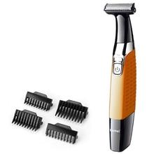 רחיץ מכונת גילוח לגברים שיער גוזם פנים חשמלי מכונת גילוח גוף groomer קצה חשמלי תער זכר אחד להב ומעצב זקן גוזם
