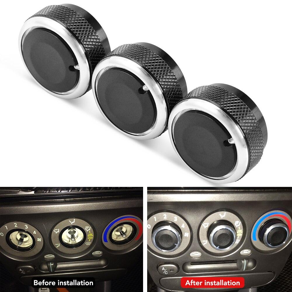 3 шт./компл. авто кондиционера, Алюминий сплав переменного тока регулятор тепла Управление кнопка для Hyundai Accent аксессуары Установки для кондиционирования      АлиЭкспресс