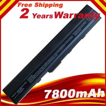 7800mAh battery for Asus K42JK K42JR K42J V K52 K52 Series K52J K52JB K52JC K52JE K52JK ytai k42jr rev2 0 hm55 mianboard for asus k42jr a42j k42j x42j laptop motherboard rev2 0 hm55 ddr3 mainboard free shipping