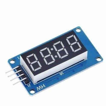 цена на 1pcs TM1637 4 Bits Digital LED Display Module For arduino 7 Segment 0.36Inch Clock RED Anode Tube Four Serial Driver Board Pack
