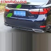 JXXDDQ Car Carbon Fiber Rear Bumper Protector for Lexus RX NX LX LS GS ES Trunk Plate Tail Trim Anti-Scratch Anti-Collision Protective Styling Accessories