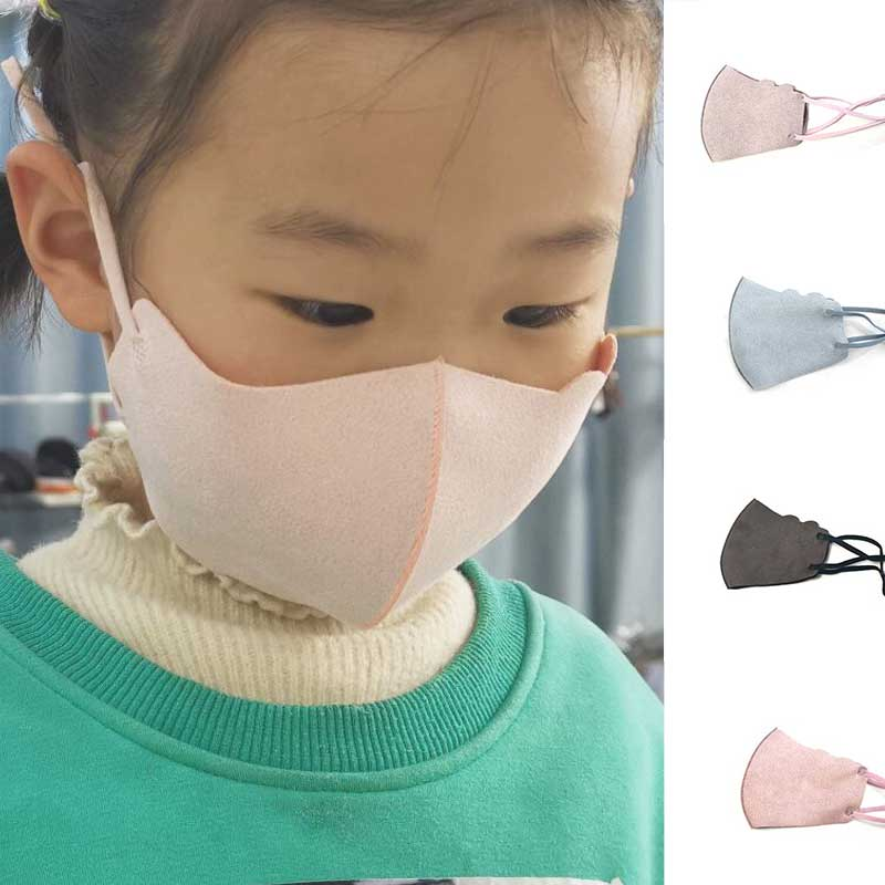 3-10 Year Kids Anti-Dust Face Mask Kids Mouth Mask Solid Color Soft Children Masks Breathable Non-disposable Washable Mouth Mask