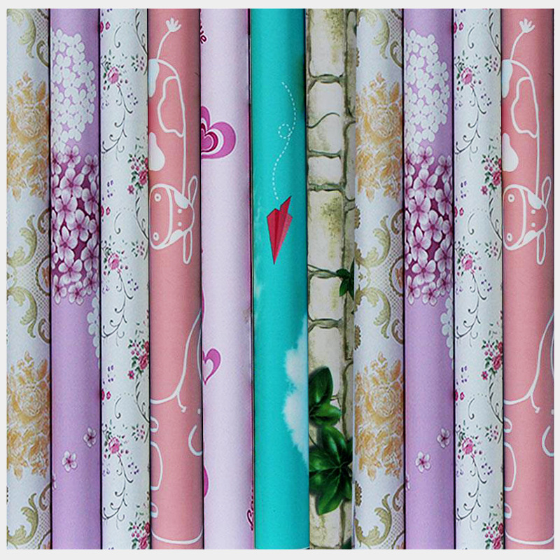 Environmentally Friendly PVC Wallpaper Self-Adhesive Bedroom Warm 10 M Sticky Notes Living Room Dormitory Waterproof Wallpaper W