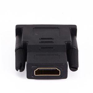 Image 3 - Convertidor de adaptador de HDTV DVI 24 + 1, macho chapado en oro a HDMI hembra 1080P