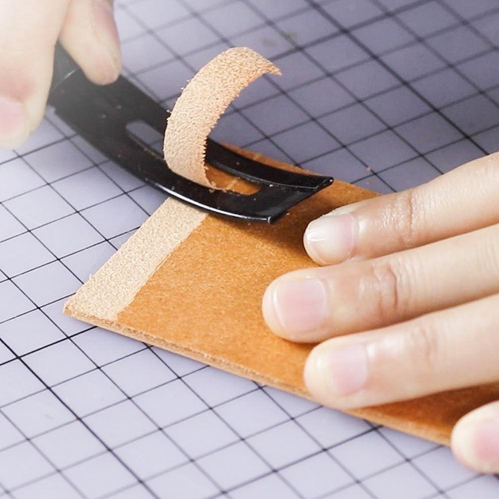 1 Набор Безопасный нож из нержавеющей стали скотч с 3 лезвиями филировочный кожаный ремесленный нож для швов «сделай сам» инструмент для шит...