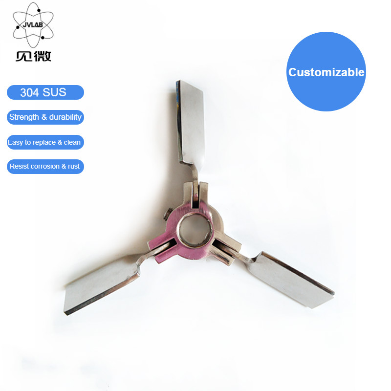 lab stainless steel DIA40mm to 120mm three blade propeller three-leaf paddle