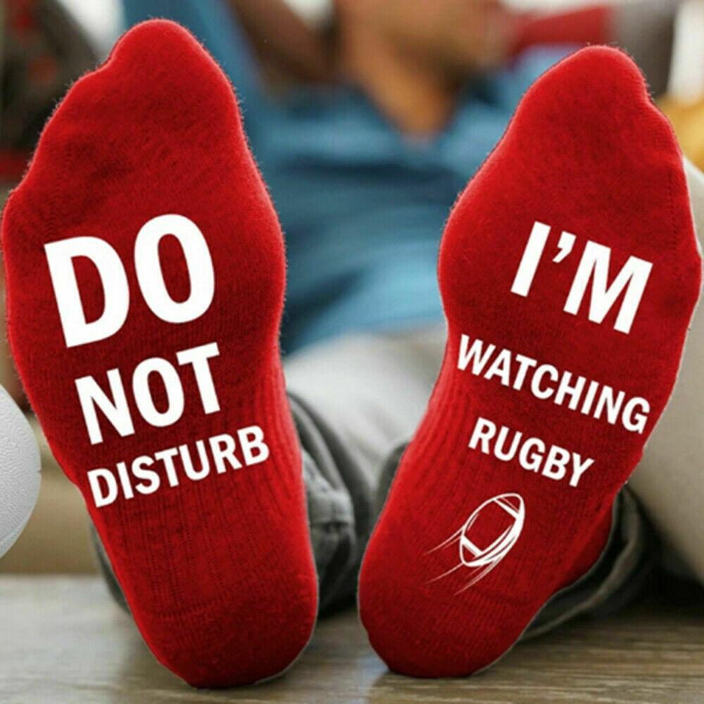 Новинка; забавные спортивные носки унисекс «Не беспокоить», «Я слежу за регби»; 1 пара; Новинка - Цвет: C