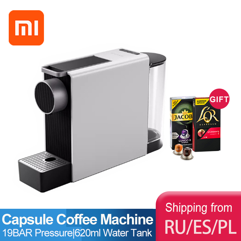 Кофемашина Xiaomi mijia, Капсульная кофемашина для эспрессо, кофеварка для капсул Dolce gusto nespresso, несколько капсул Капсульные кофемашины    АлиЭкспресс