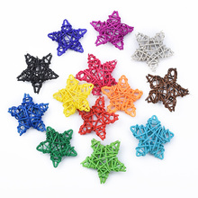 Bridal-Accessories Christmas-Decorations Star-Straw Rattan Home Festival-Supplies Artificial-Plants
