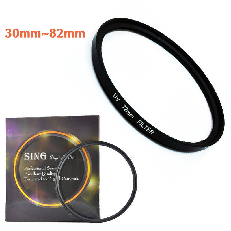 <font><b>30</b></font> 37 40.5 43 46 49 52 55 <font><b>58</b></font> 62 67 72 77 82mm DSLR/SLR Camera Lens UV Filter Protector For Sony Nikon Canon Lens Filter + Box image