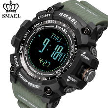 Digital Watches Chronograph SMAEL Military Outdoor Black Sport Male Waterproof Luxury