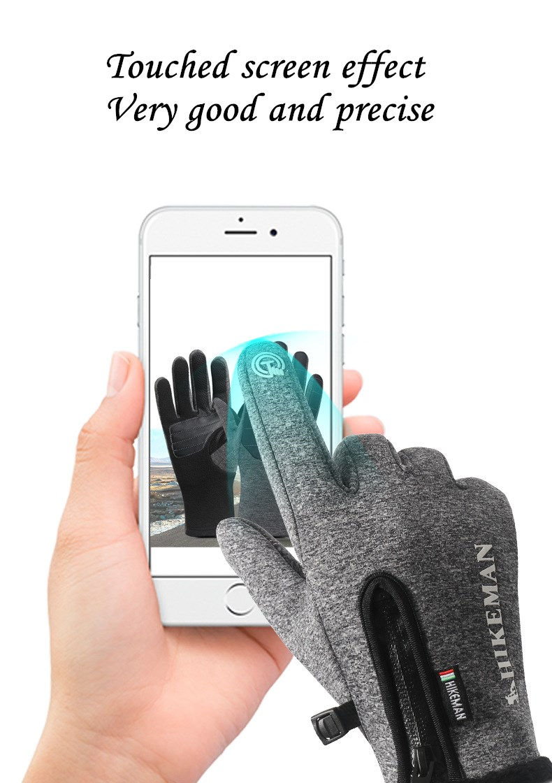 CUHAKCI Waterproof and Windproof Touch Screen Gloves for Men and Women Suitable for Operating All Touch Screen Devices during Winter 17