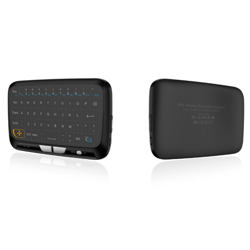 mini black H18 Mini Wireless 2.4GHz Keyboard Air Mouse Large Full Screen Touchpad USB Black New (2)