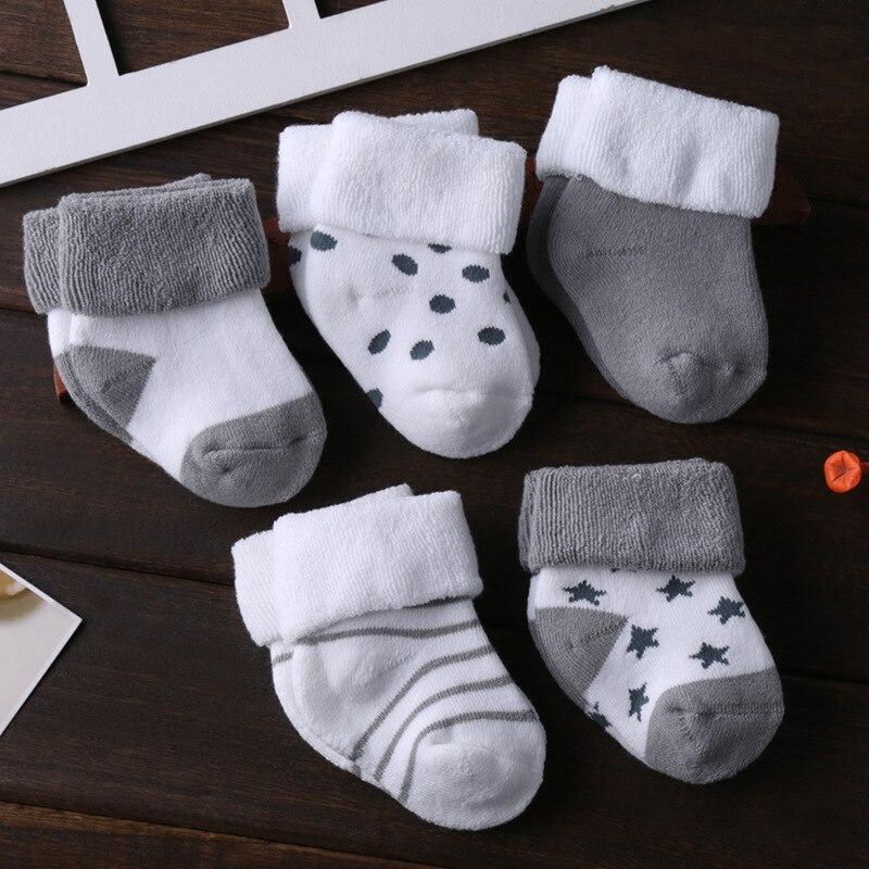Meias para recém-nascidos de algodão, meias de