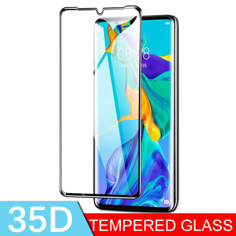 35D Full Cover Protective Tempered Glass For Huawei P20 P30 Lite Pro Screen Protector Glass For Honor 8x 9x 20 Pro 10 Lite Film