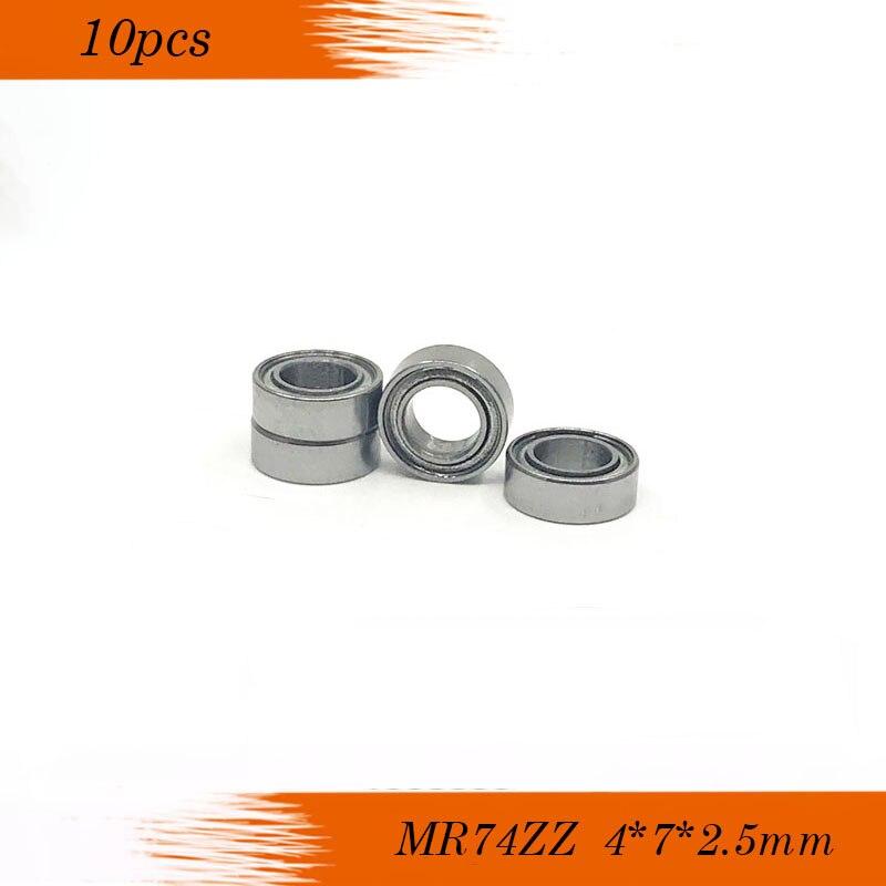 SMF74zz 4x7x2.5 mm Stainless Flanged Ball Bearings MF74zz 4*7*2.5 10 PCS