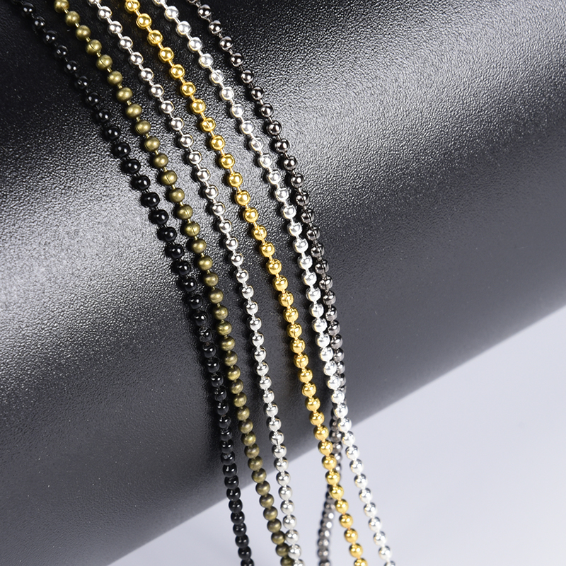 Chains-Accessories Necklaces Jewelry Beads Making-Findings Alloy-Ball DIY Metal for 5-10-Meter