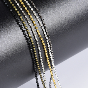 5-10 Meter Metal Alloy Ball Beads Chains Accessories For Necklaces DIY Jewelry Making Findings