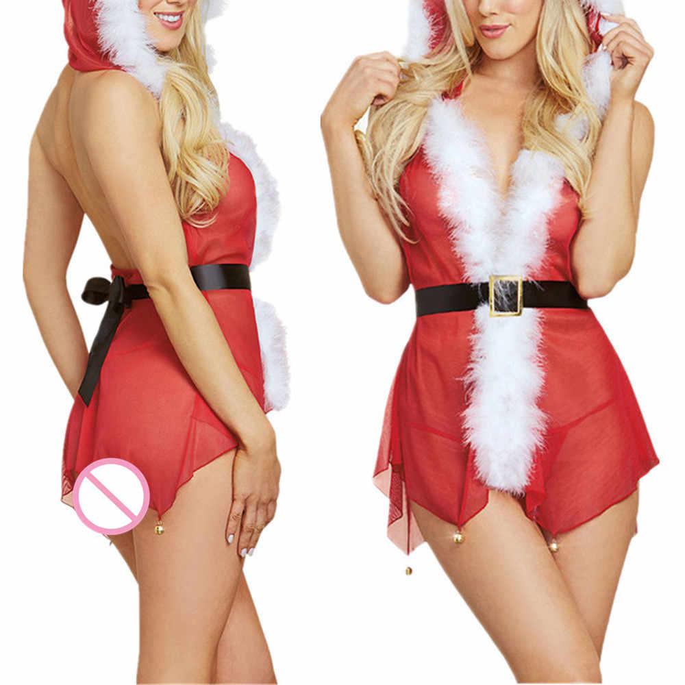Сексуальное нижнее белье, рождественское модное женское сексуальное муслиновое маленькое колокольчик, костюм для специй, искушение, сексуальное для вечеринок, нижнее белье, Porno langery D3
