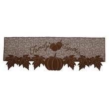 Украшения на День Благодарения Тыква Урожай камин шарф кленовые листья кружева каминная крышка