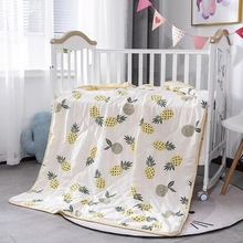 INS popular pineapples air condition quilt for summer , queen size Soft bedside  quilt blanket, baby blanket pug dog pattern filled air conditioner quilt for summer