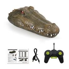 Flytec V002 RC Simulation Crocodile Head Electric Remote Control Boat