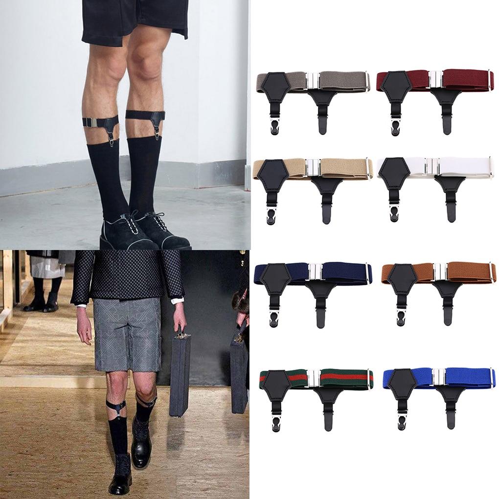 1 Pair Adjustable Elastic Sock Garters Metal Clips Men Women Sock Suspenders Holders Belt Strap Fashion New