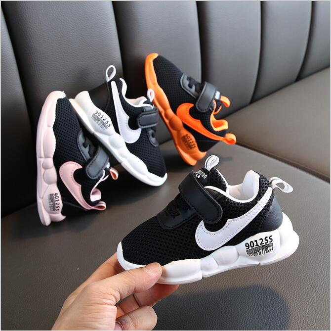 New Children Shoes Boys Sneakers Girls Sport Shoes Child Leisure Trainers Casual Breathable Kids Running Shoes EU 21-25