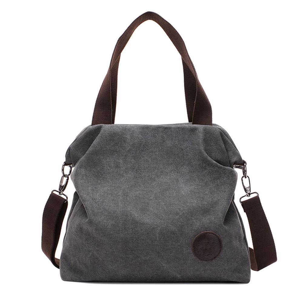 Vintage de gran capacidad bolso bolsos casuales de las mujeres hombro bolsos Messenger Canavs bolsos de mujer de marca famosa