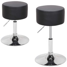 Bar Stool Pub-Chair Swivel Kitchen Round with Footrest Height-Adjustable Home Backless