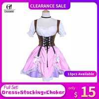 ROLECOS Gothic Sexy Frauen Kleid Süße Lolita Kleid Marke Hohe Qualität Oktoberfest Kostüm Prinzessin Kostüm Spitze Bowknot