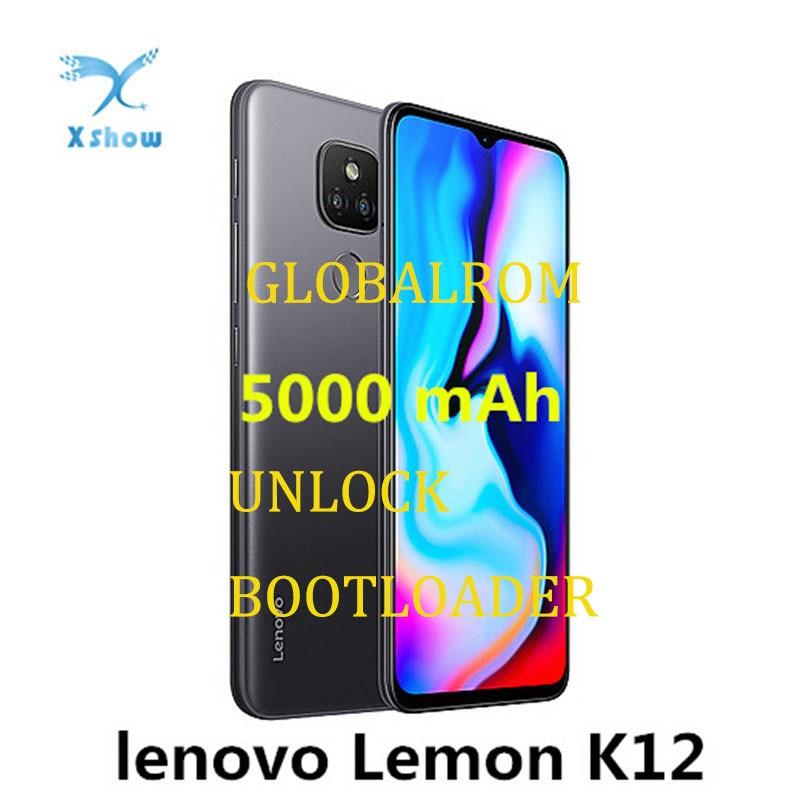 Оригинальный смартфон Lenovo Lemon K12, 4 ГБ, 64 ГБ, 6,5 дюйма, 20:9, большая батарея, 5000 мАч, Snapdragon 460, камера 48 МП, OTG Мобильный телефон