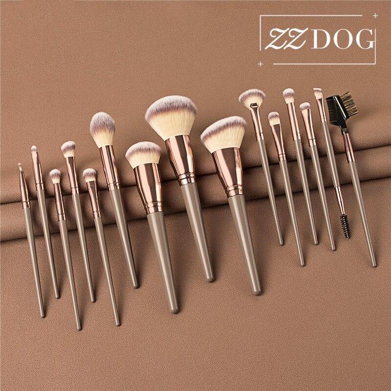 ZZDOG brochas de maquillaje profesionales individuales, polvo suave esponjoso, sombra de ojos, pestañas, colorete, resaltador, herramientas cosméticas, nuevo|rizador de pestañas| - AliExpress