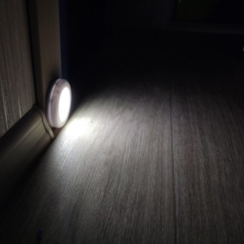 6 LED ночник датчик движения лампа магнитный беспроводной детектор настенные лампы Авто Вкл/Выкл шкаф для прихожей шкаф огни