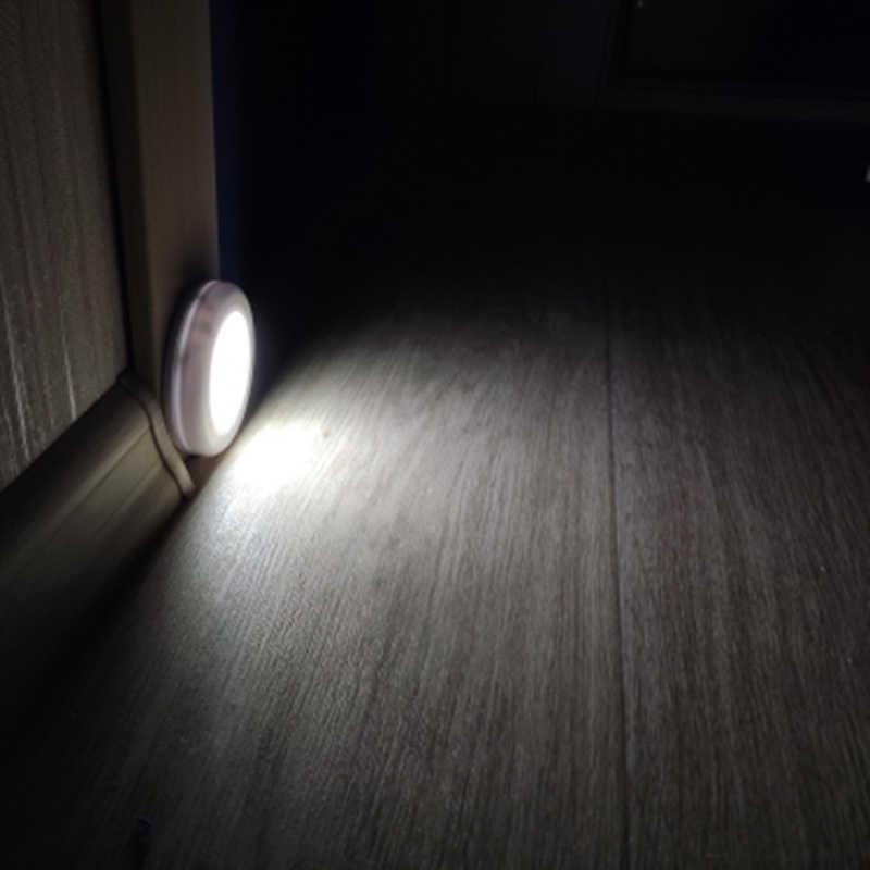 6 Светодиодный Светильник-ночник с датчиком движения, магнитный беспроводной детектор, настенные лампы, Автоматическое включение/выключение, шкаф для прихожей, шкаф, светильник s