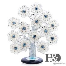 H & D Türk Feng Shui Şanslı Evil Göz çiçek ağacı Koruma Için Servet Ve Başarı Iyi Şanslar noel hediyesi Ev Dekor reçine