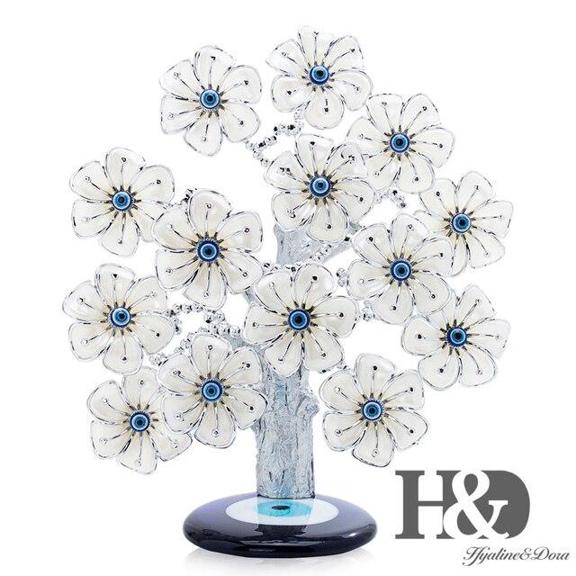 H & D Древо фэн шуй, цветы от сглаза для защиты, удачи и удачи, рождественский подарок, Декор для дома из смолы