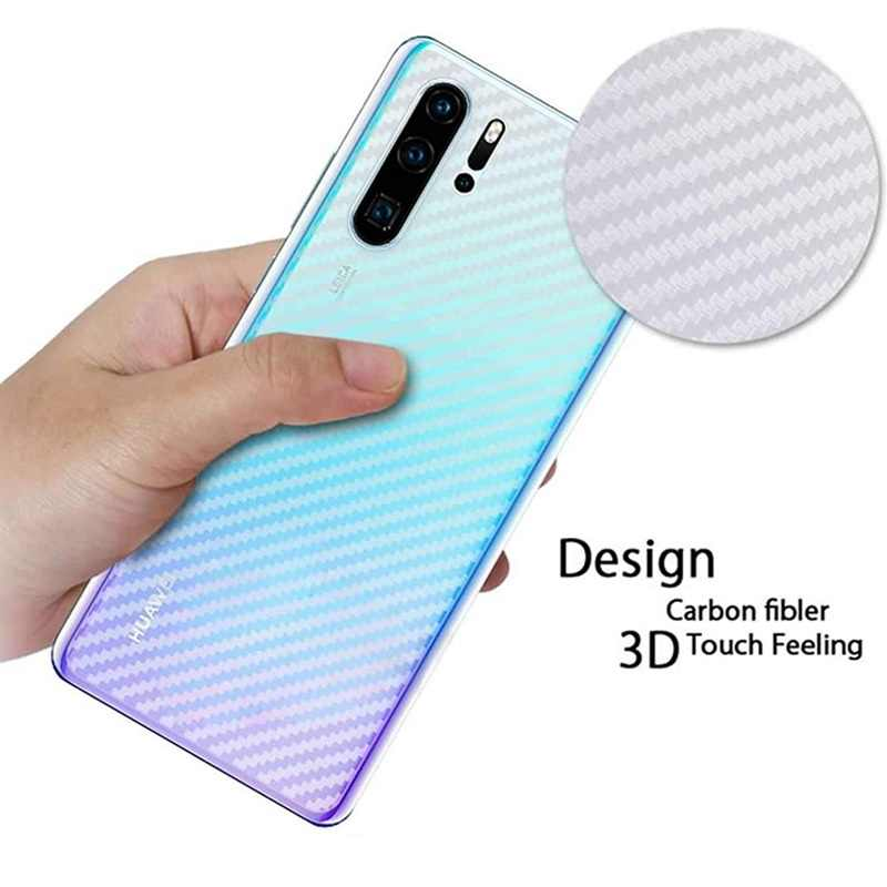 5pcs/lot 3D Carbon Fiber Protective Film For Huawei P30 Lite Soft Glass Back Screen Protector For Huawei P30 Pro Nova 4e