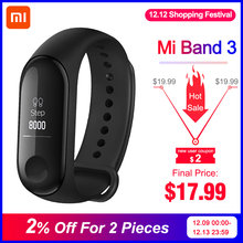 In Voorraad Xiao mi mi band 3 Mi band 3 fitness tracker hartslagmeter 0.78 ''Oled-scherm bluetooth 4.2 Voor Android IOS(China)