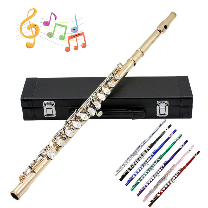 Профессиональные флейты Музыкальные инструменты Китайский Dizi поперечные Flauta 16 отверстие C Ключ тон Piccolo Ottavino флейта из латуни