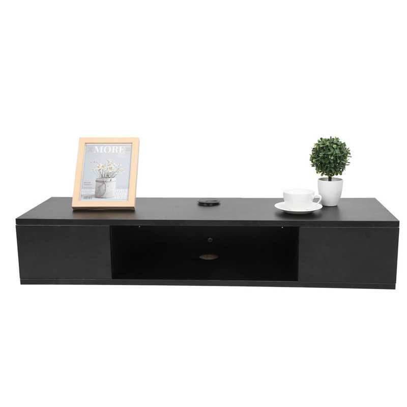 Multifunctional TV Stand Particleboard Wall Mounted TV Cabinet Laptop Stand Desk for Home