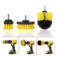 Juego de cepillos para cepillo de limpieza con motor para cepillo de taladro para fregadero y cuarto de baño para limpieza accesorio de Taladro Inalámbrico Kit Power Scrub amarillo