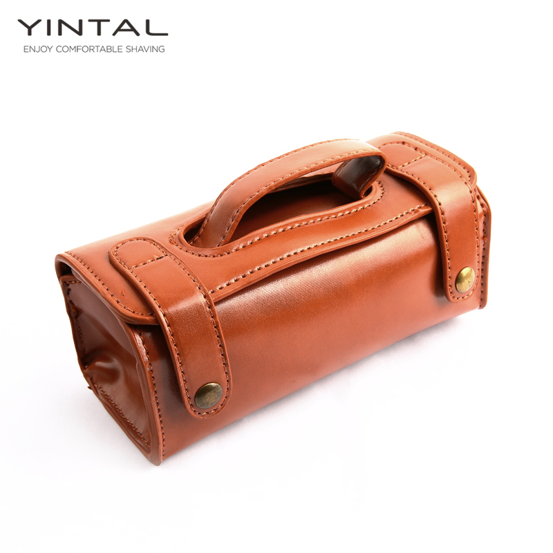 YINTAL Manual Shaving Razor Portable Shaving Brush Travel Leather Bag For Double Edge Safety Razors Box (Only 1 Box)
