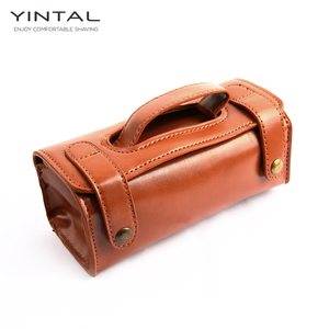 Image 1 - YINTAL Manual Shaving Razor Portable Shaving Brush Travel Leather Bag For Double edge Safety Razors Box (Only 1 box)