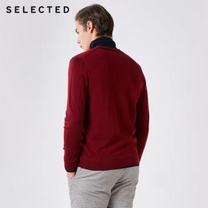 Image 3 - 選択100% ウール長袖カーディガンプルオーバーのセーターの男性のニット服t