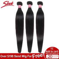 Les paquets brésiliens droits élégants d'armure de cheveux traitent des vendeurs d'extension de cheveux humains 8 à 28 30 pouces non-remy 100% paquets de cheveux humains
