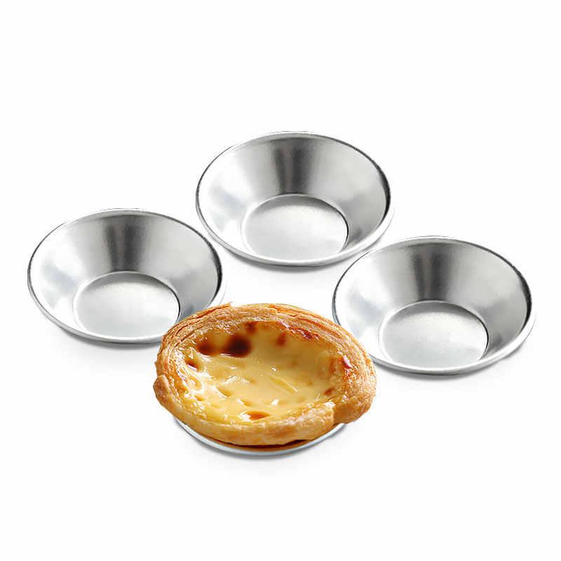 10 Pcs Cake Style Egg Tart Pasteis De Nata Oven Bake Round Custard Tin Cake Tool