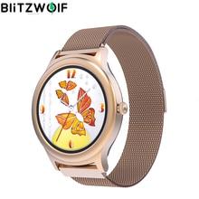 BlitzWolf BW AH1 Mujer Smartwatch Frecuencia cardiaca Mujer Ciclo Fisiológico Recordatorio Mujer Reloj Inteligente Bluetooth Personalizar Dial Smartwatches Mujeres Fitness Tracker Wristwatch Sport Relojes inteligentes