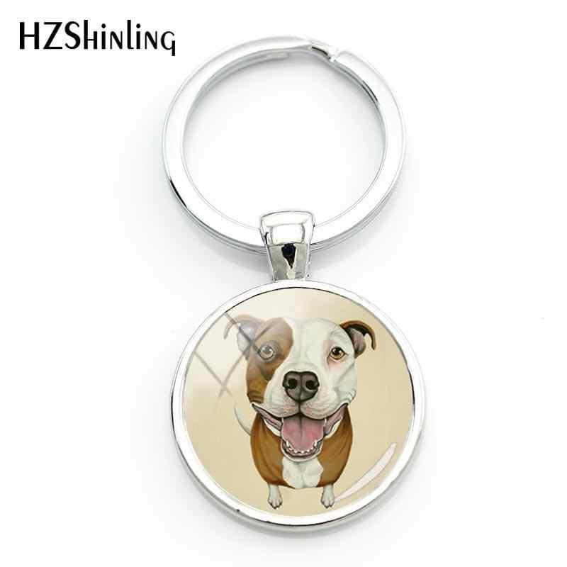 Pitbull key ring wristlet key fob Pit Bull key ring dog breed key fob wristlet