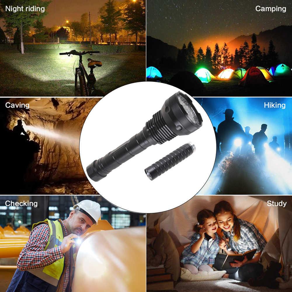 Мощный светодиодный вспышка светильник 8000 люмен 9 до 24 * T6 светодиодный фонарь светильник светодиодный тактический вспышки светильник 3 режима Linterna фонарик Портативный лампа светильник